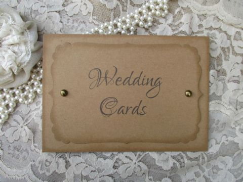 Calligraphy Wedding Cards Sign